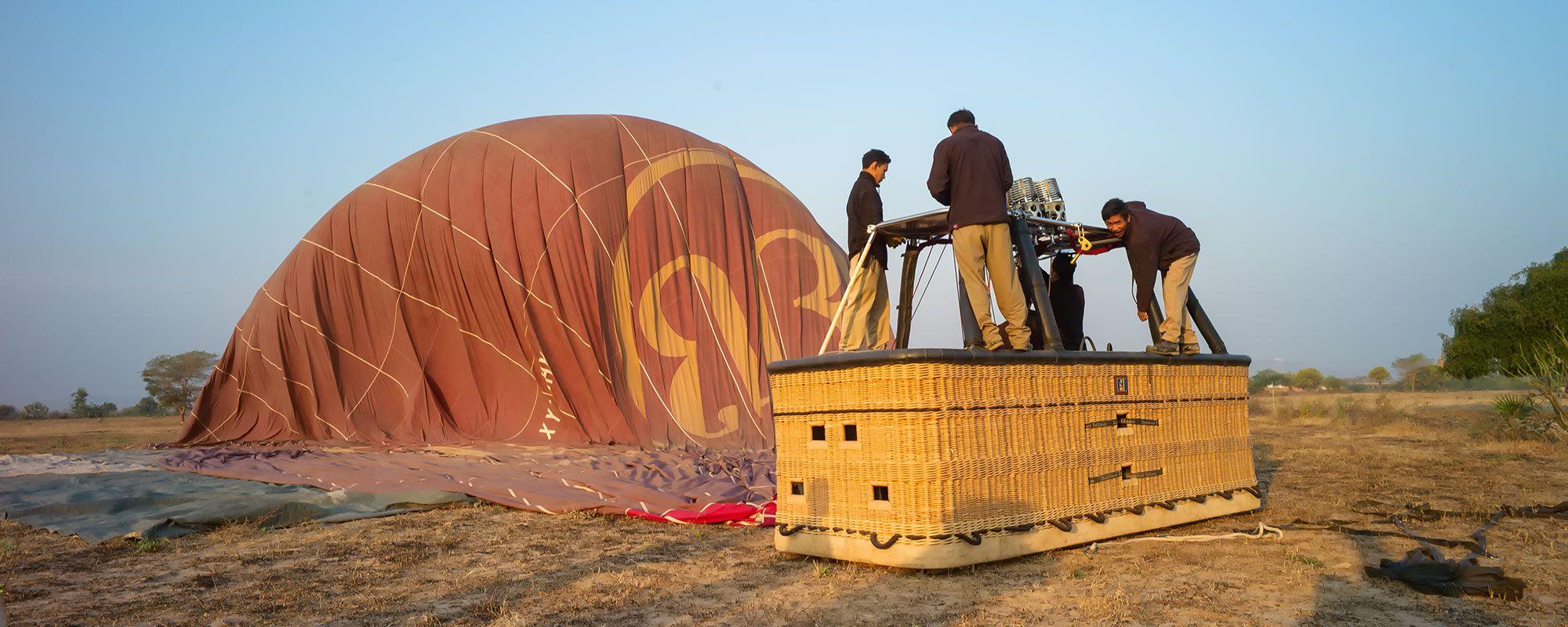 Ballonfahrt Vorbereitung