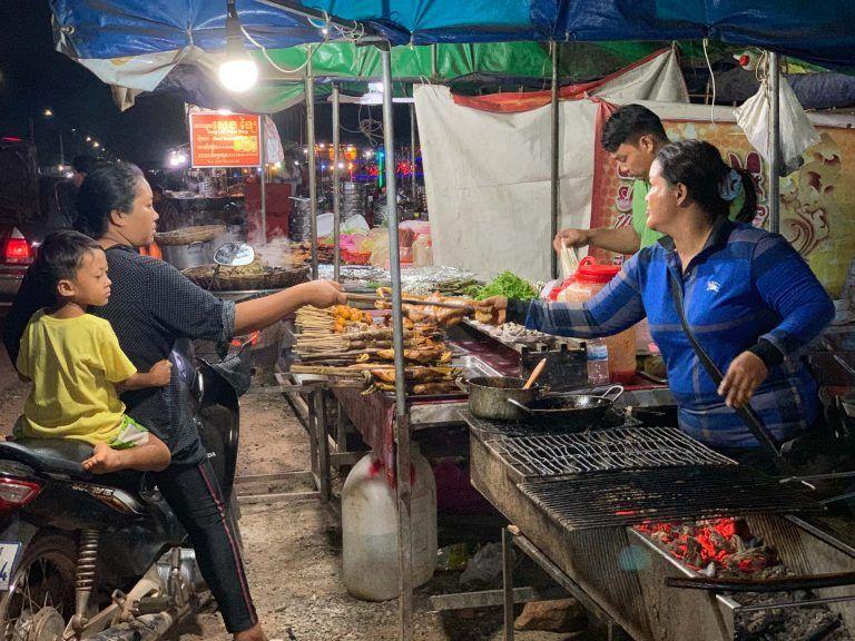 Essensstand in Sieam Reap