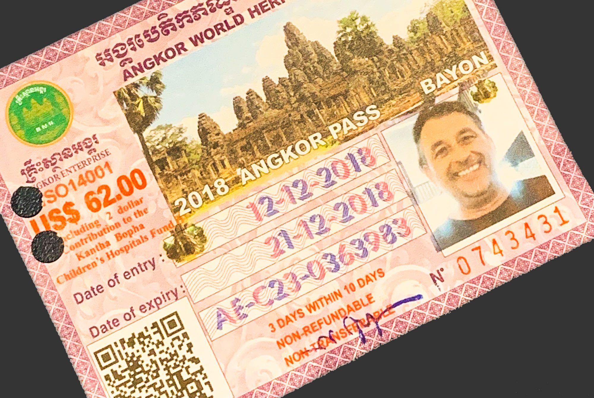 Eintrittsticket zu Angkor Wat