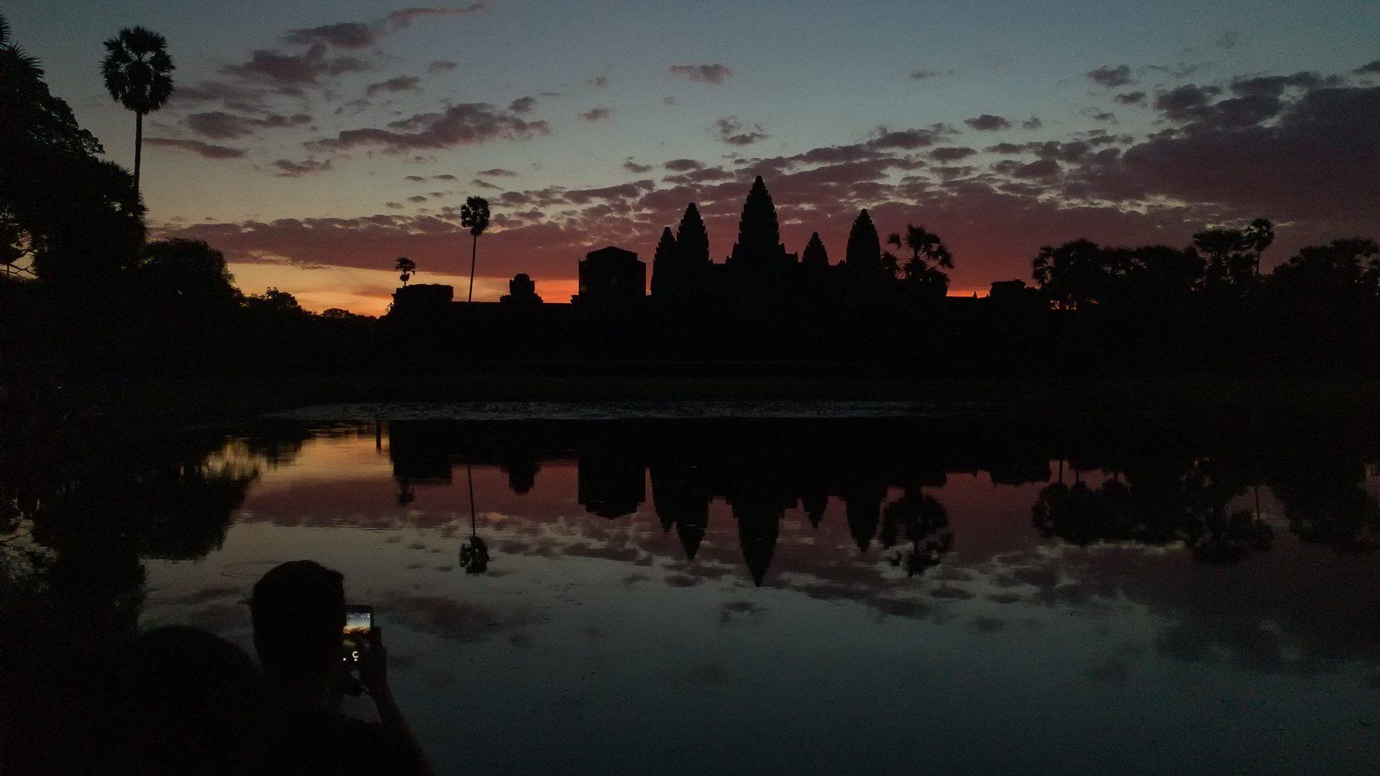Gedränge zum Sonnenaufgang