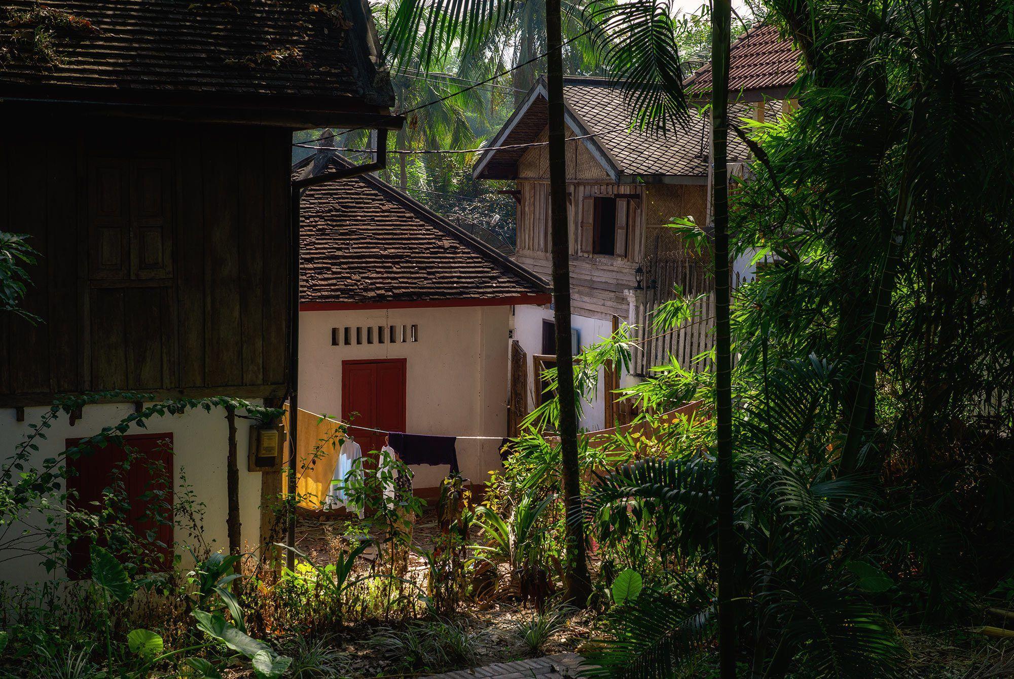Dorfhäuser in Luang Prabang