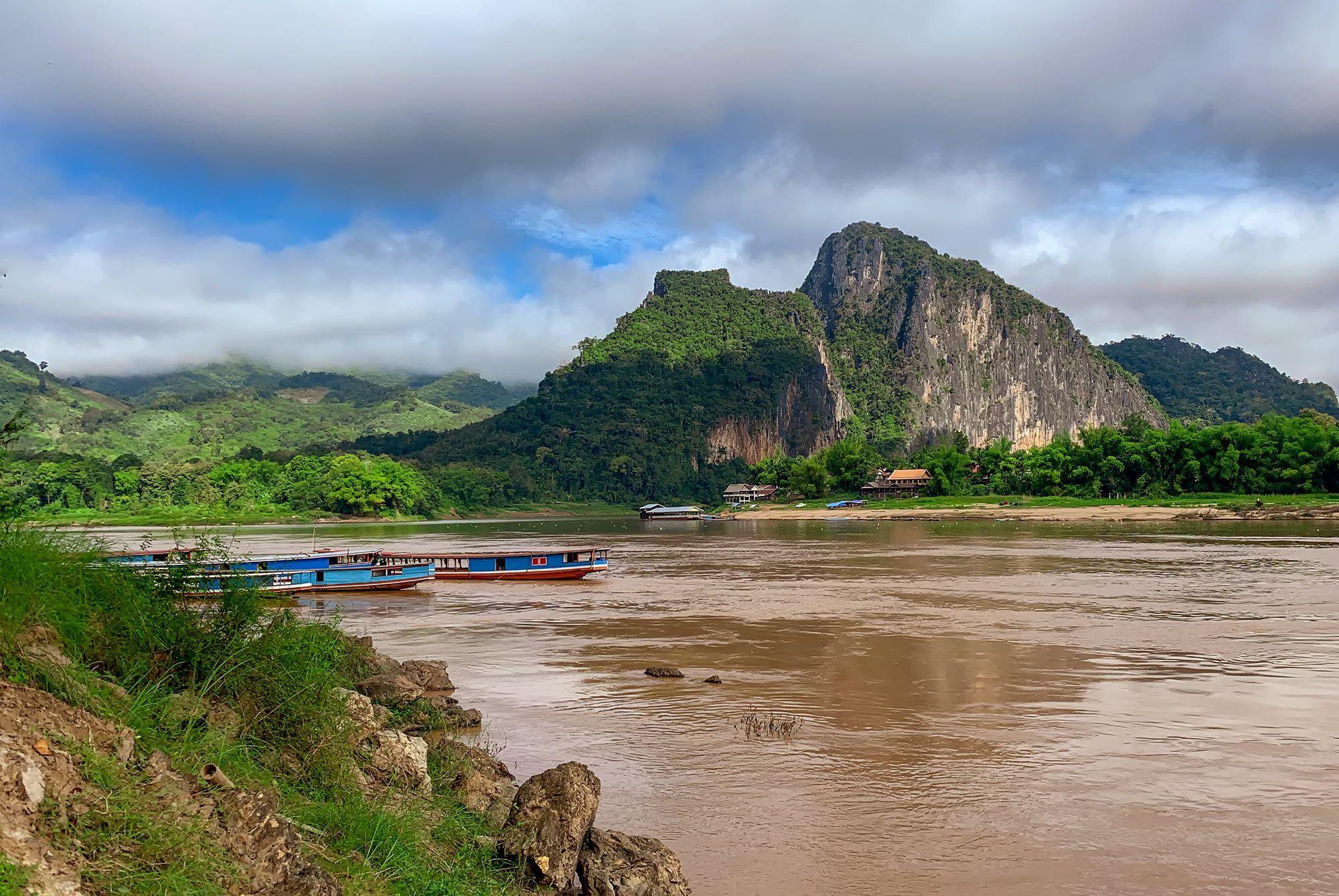 Mekong nördlich von Luang Prabang