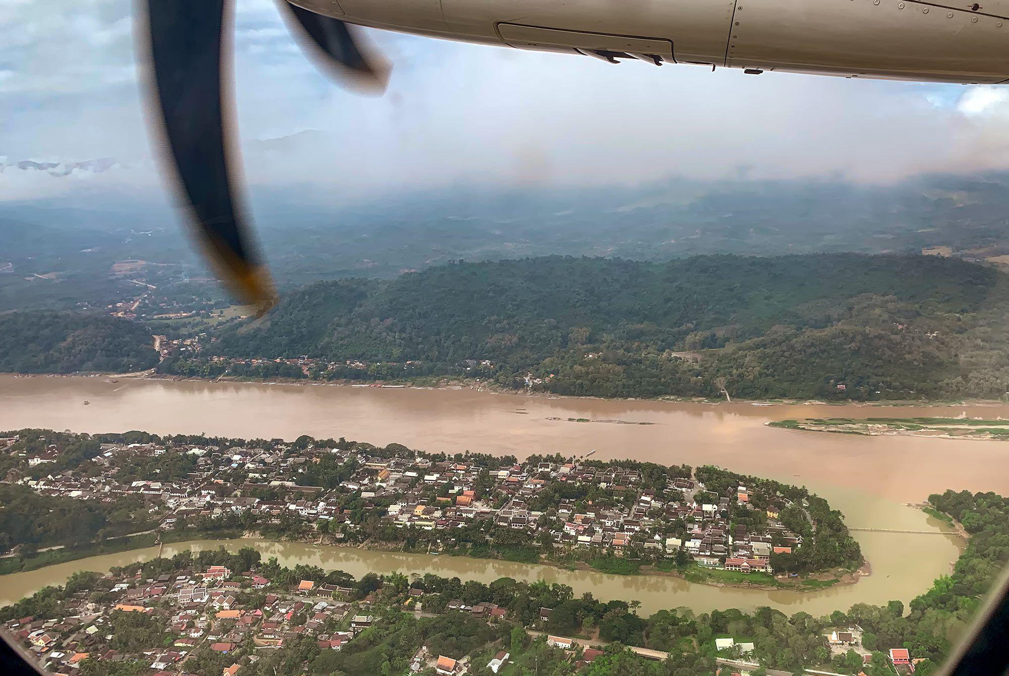Luang Prabang aus der Luft