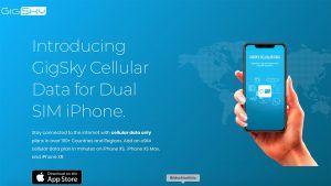 GigSky Dual SIM für iPhone