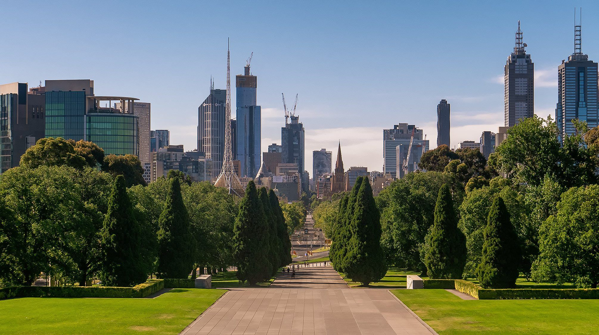 Melbourne Skyline from War Memorial