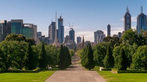 Melbourne Skyline from War Memorial