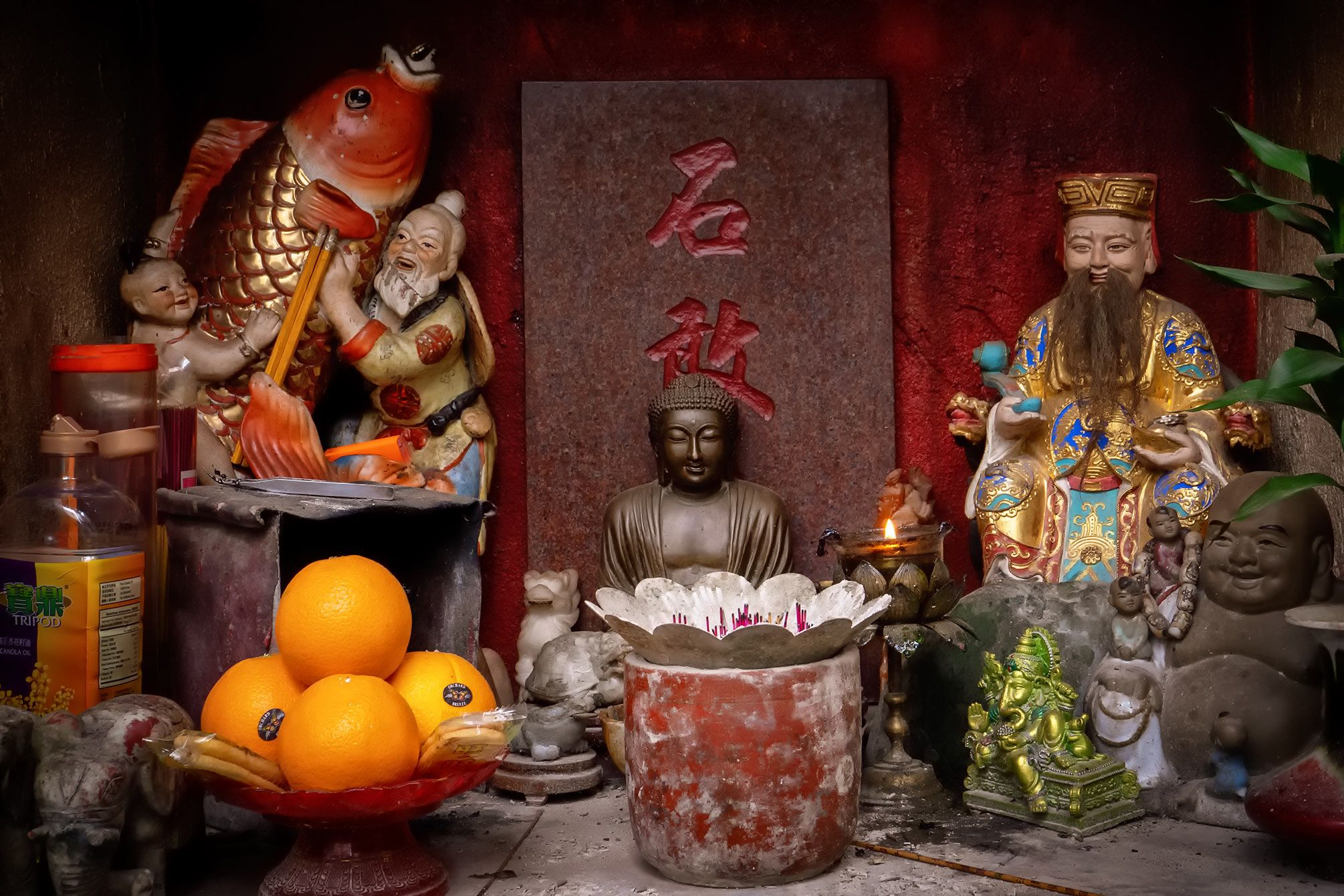 Gottheiten im Tempel