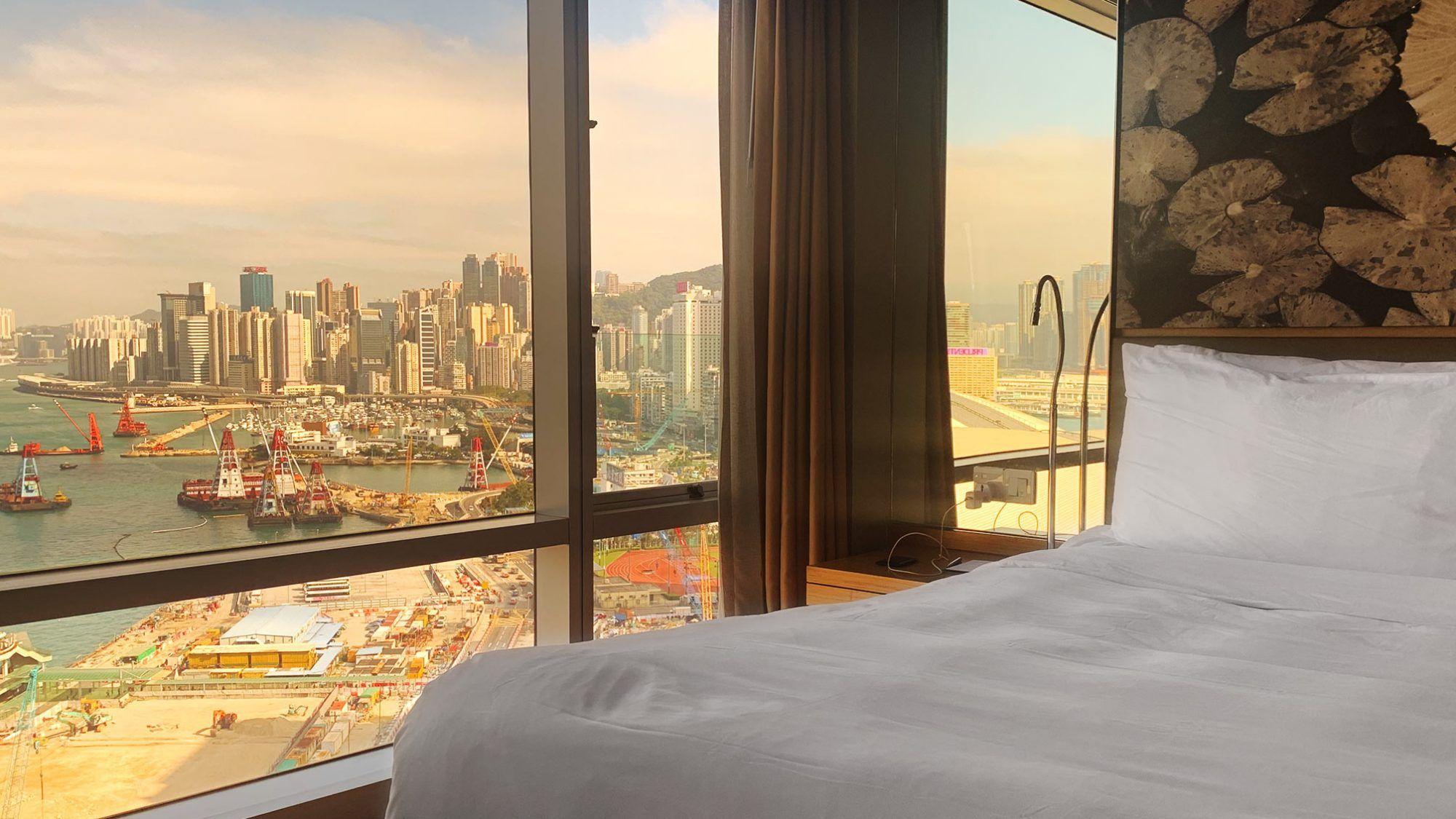 Aussicht auf Hong Kong Island