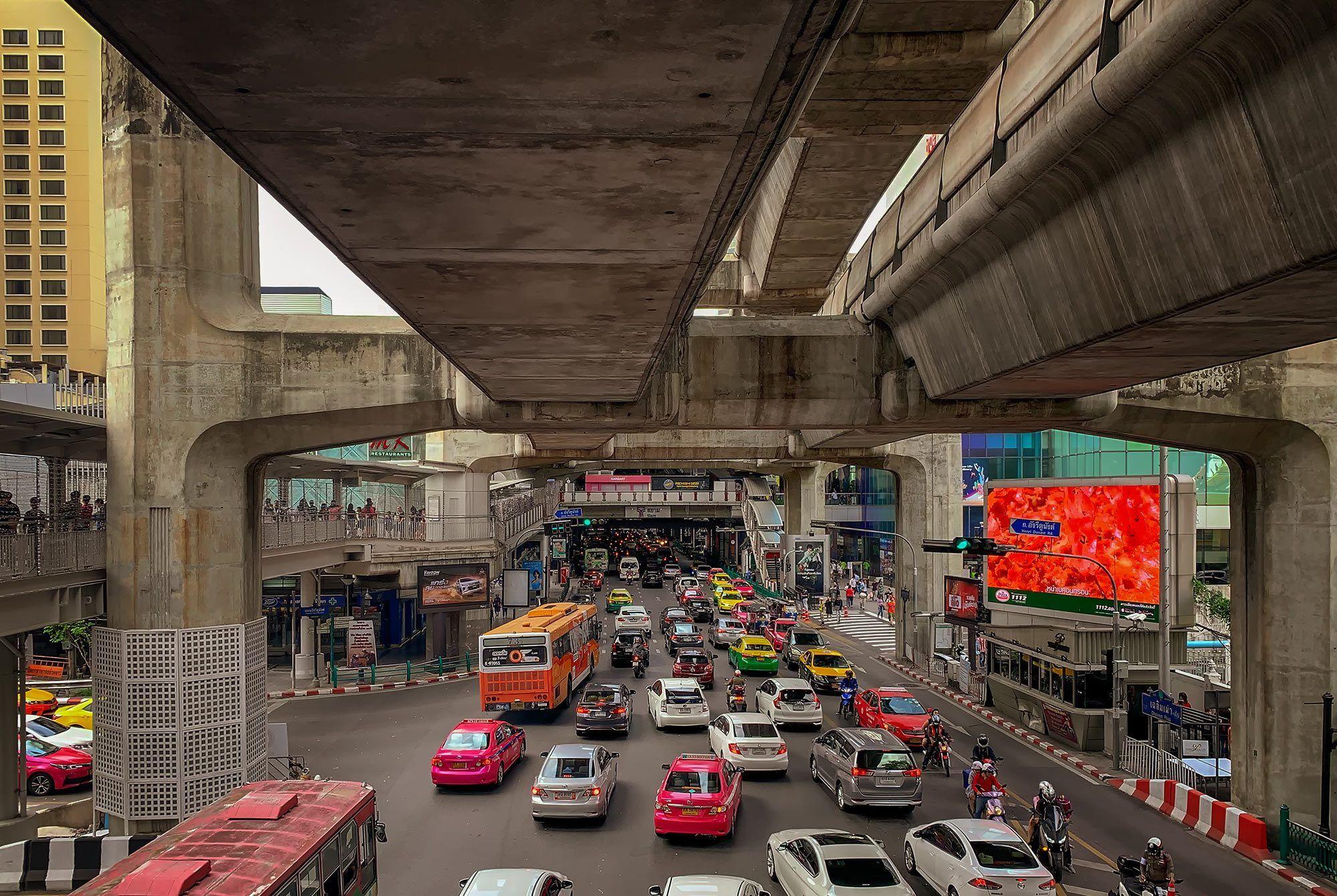 Stau beim Siam Centre
