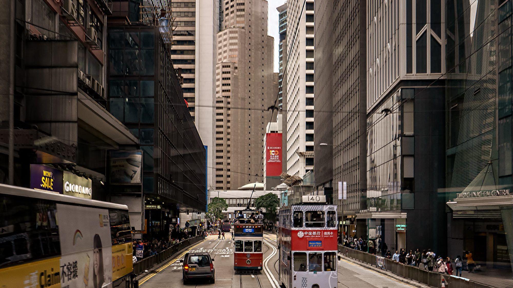tramway in Hong Kong