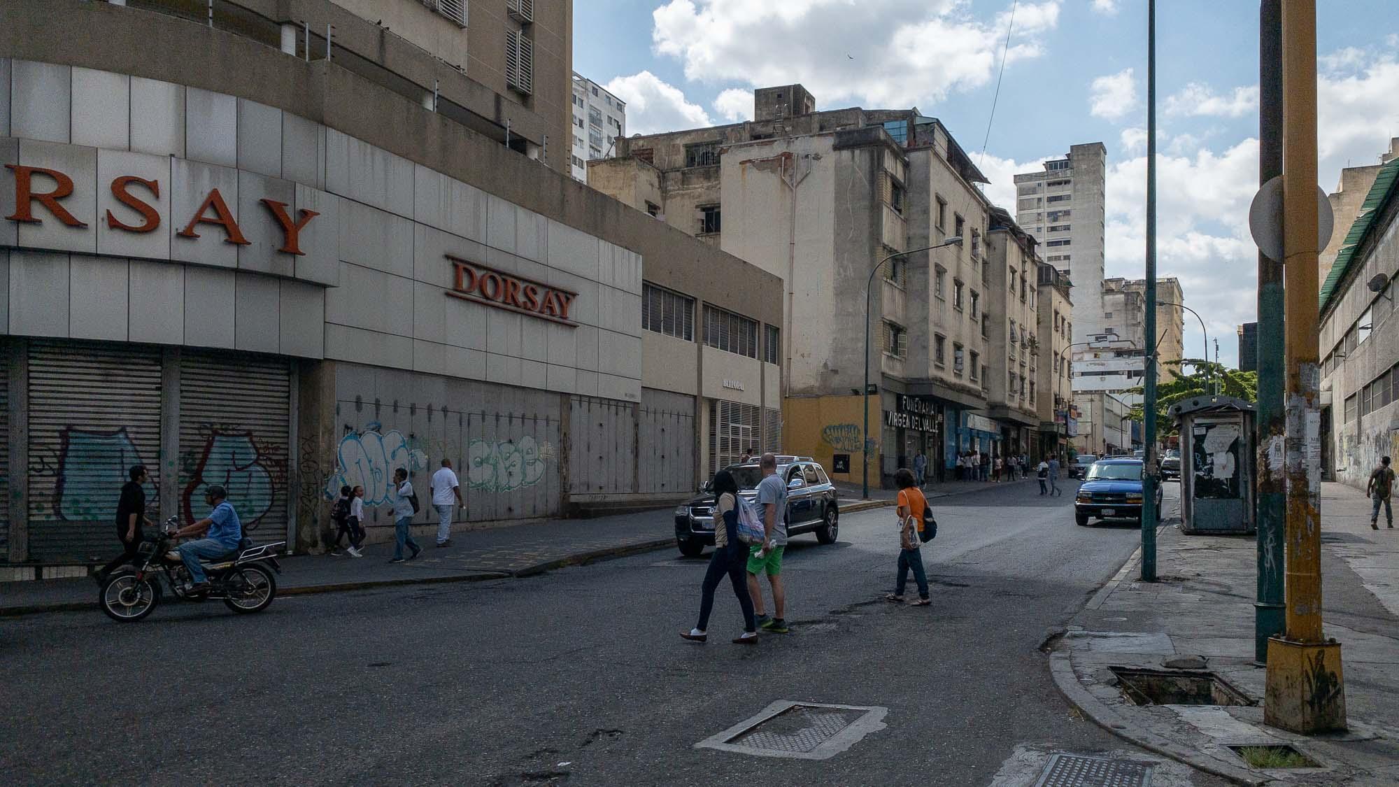 leere Geschäfte in Caracas
