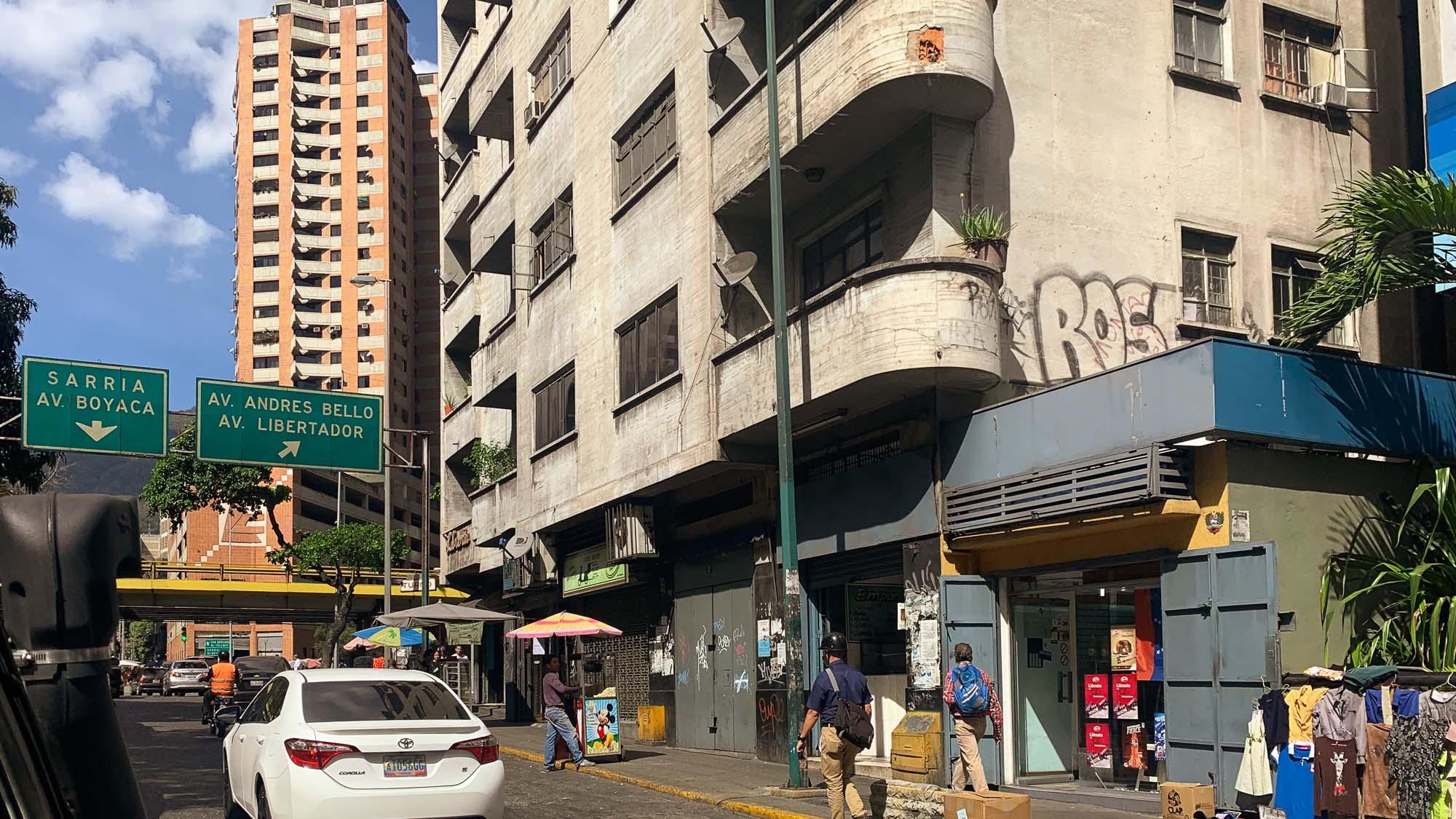 Straßenszene in Caracas