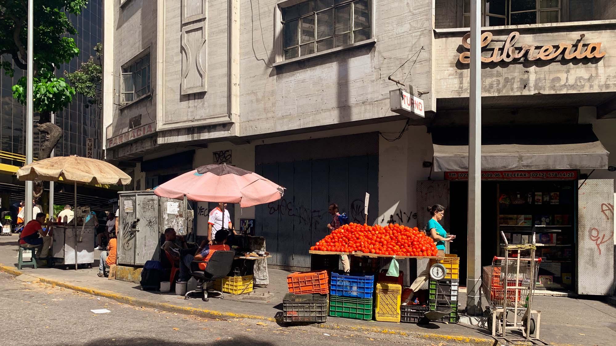 strassenhändler in Caracas