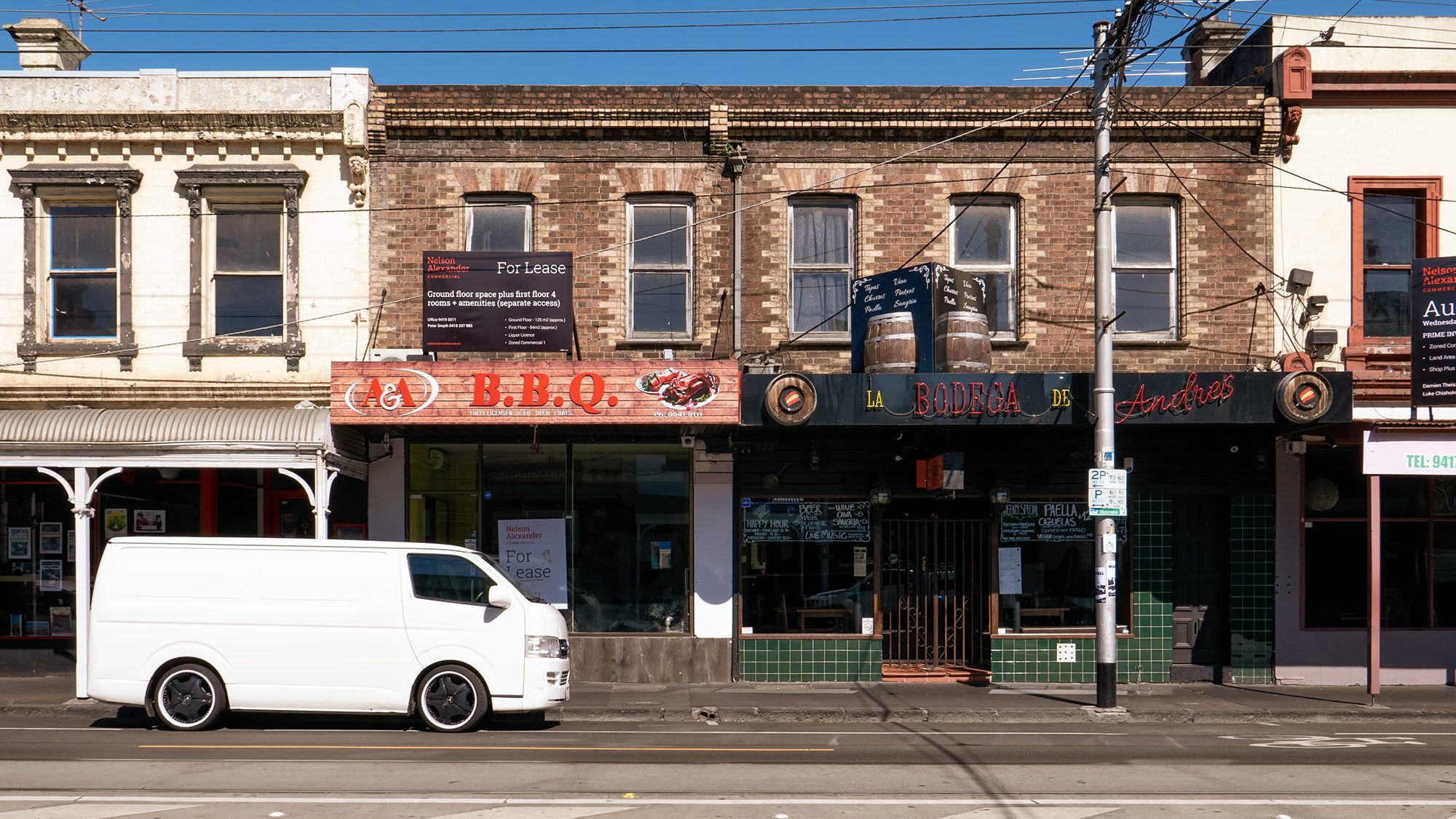 white van on brunswick street