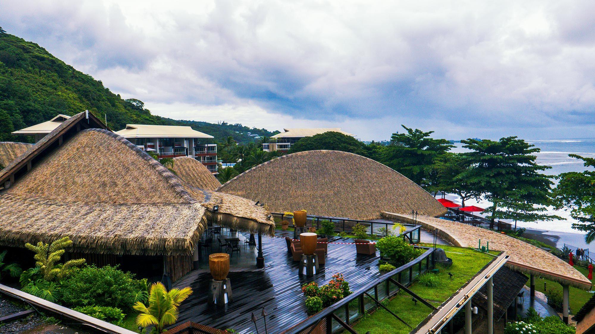 Black Pearl Resort Tahiti on a cloudy day