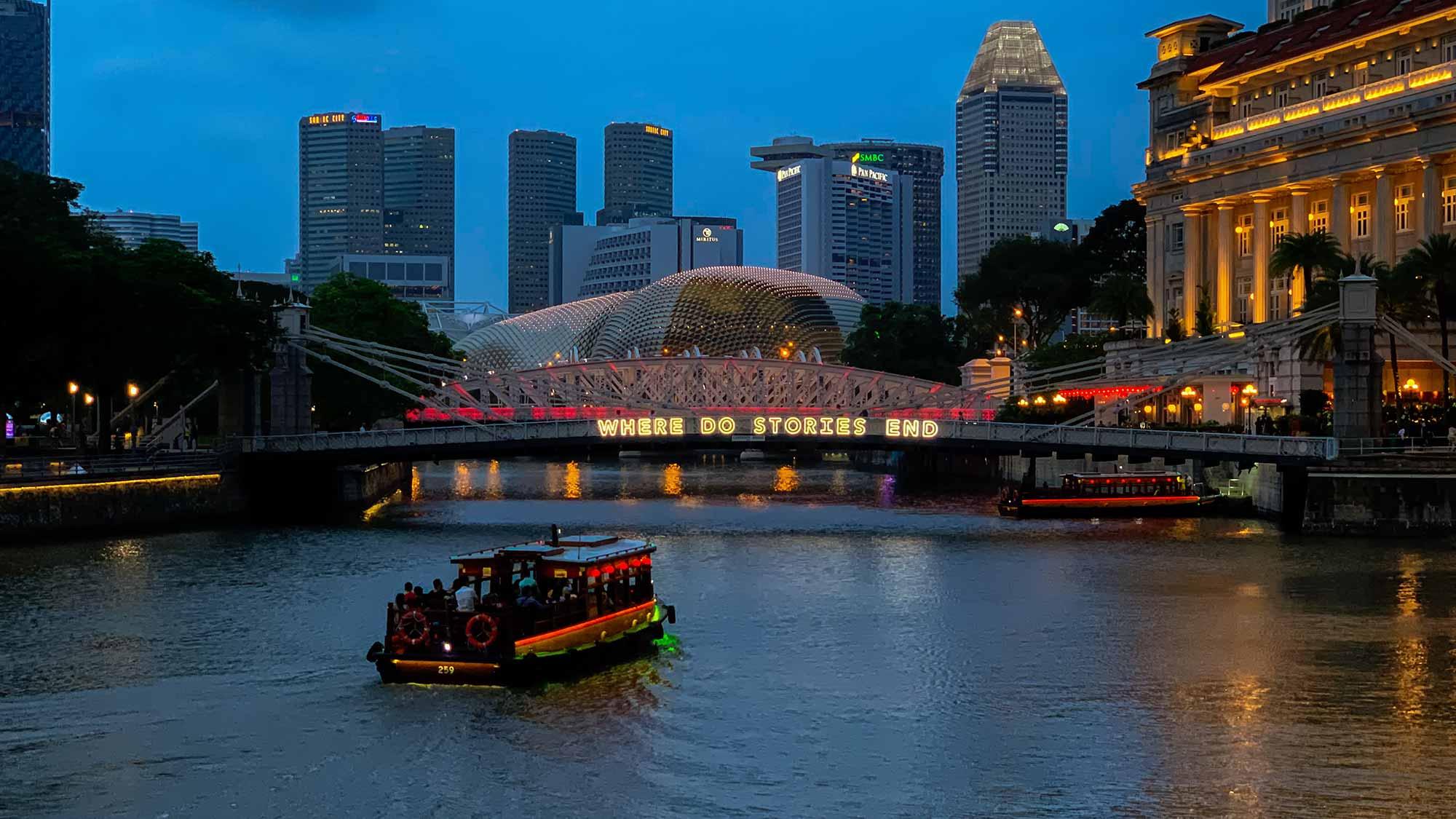 sicherer Hafen Singapur