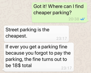 Parking dilemma