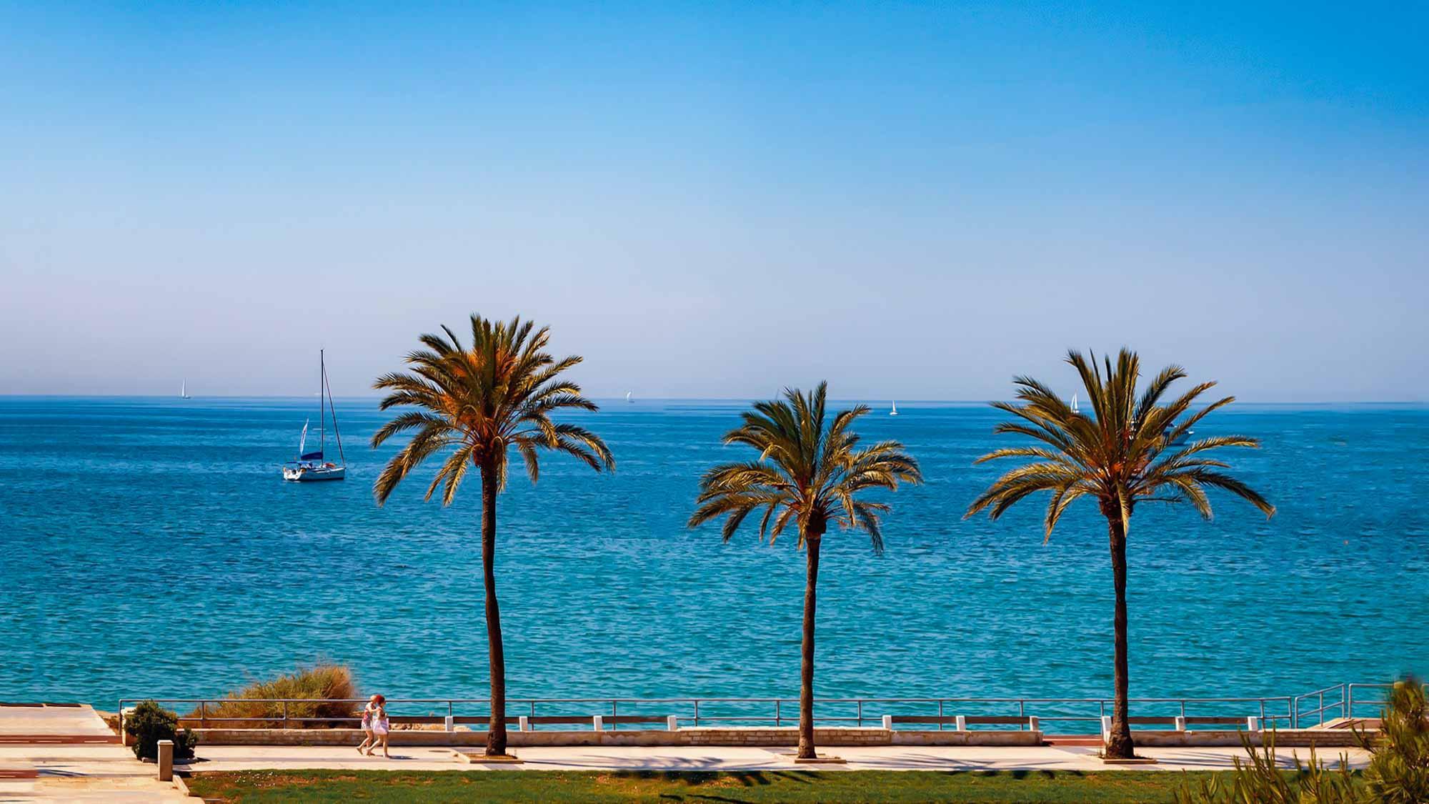 Strandpromenade in Palma